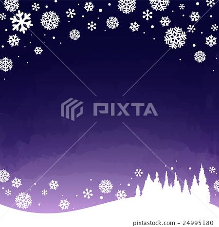 winter snowy night 24995180