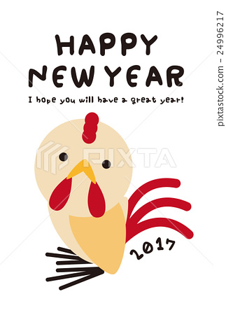 new years card template rooster new years card 24996217