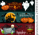 Design for Halloween signboards and posters 24996393