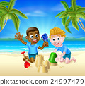 beach, child, kids 24997479