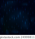 Dribble rain at night dark blue foggy sky. 24999811