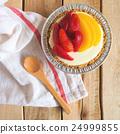 Strawberry and Peach Cheesecake 24999855