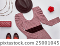 Fashion Set. Top view.Stylish Design.Vintage Retro 25001045