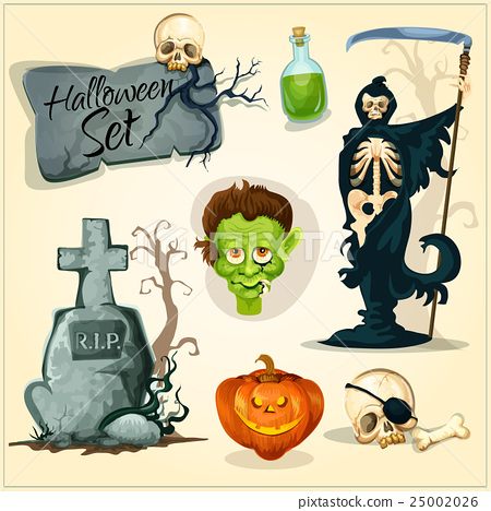 Creepy and horror elemens for Halloween designs 25002026
