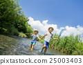 brother, playing in water, playing in a river 25003403