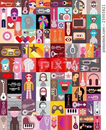 Pop-art vector collage 25003821