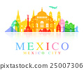 Mexico Travel Landmarks. 25007306