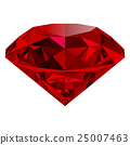 Realistic red ruby isolated on white background 25007463