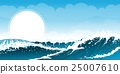 Stormy seascape background 25007610