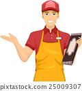 Man Waiter Menu 25009307