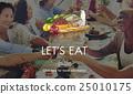 cheers, eating, friends 25010175