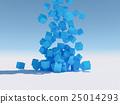 立方體 方塊 水滴 25014293