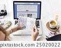 Flight Booking Online Passport Stamps Concept 25020022