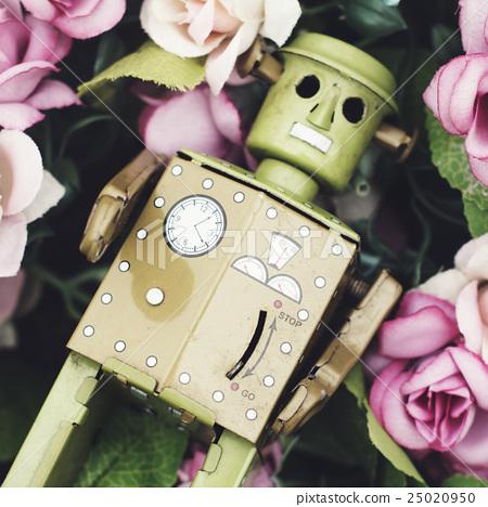 Robot Toy Nature Flower Concept 25020950