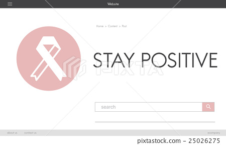 Pink Ribbon Breast Cancer Healthcare Concept 25026275