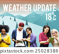Weather Update Temperature Forecast News Meteorology Concept 25028386