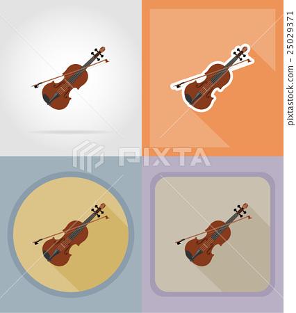 violin flat icons vector illustration 25029371