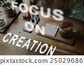 browsing, creation, focus 25029686
