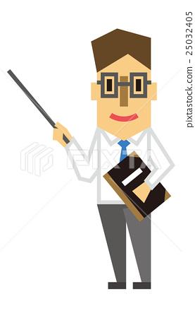 Stock Illustration: teacher, teachers, pointer