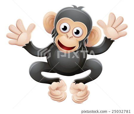 Chimpanzee Animal Cartoon Character 25032781