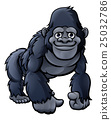 gorilla, cartoon, vector 25032786