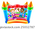Kids Playing on Bouncy Castle 25032787