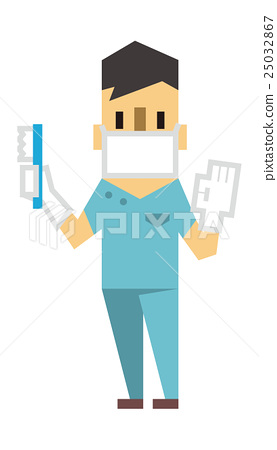 Stock Illustration: dentist, dentists, vectors