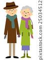 elderly, couple, old 25034512