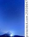 후지산, 밤하늘, 별 밤 25036647