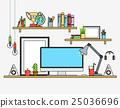 vector, workspace, flat 25036696