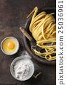 Raw homemade pasta tagliatelle 25036961