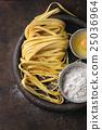 Raw homemade pasta tagliatelle 25036964