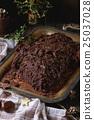 Homemade christmas chocolate yule log 25037028