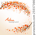 Autumn nature background with a tree  25037366