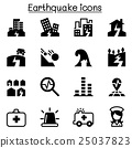 Earthquake icon set 25037823