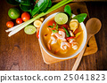 Tom yam kong or Tom yum soup. Thai food. 25041823