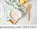 hot corn soup in a white bowl 25041835
