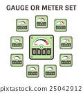 gauge, icon, illustration 25042912