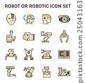 Robot icon set 25043163