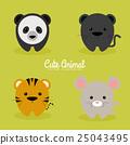 cute, animal, character 25043495