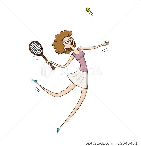 Woman playing tennis 25046431