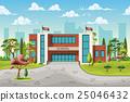 school building cartoon 25046432
