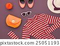 Fashion Set. Top view. Stylish Autumn Outfit.Retro 25051193