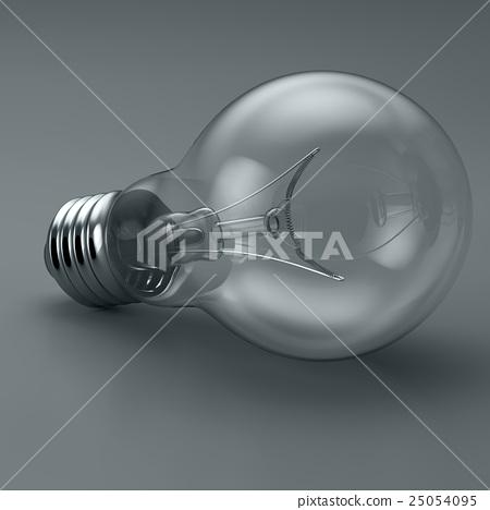 Light bulb. 3D illustration 25054095