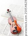 바이올린과 악보 25054629