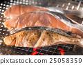 三文魚 鮭魚 烤魚 25058359