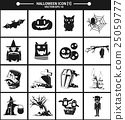 Halloween icon collection version 01. 25059777