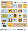 Hipster vector colorful style elements and 25059968