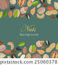 Nuts Background Concept Vector in Flat Design. 25060378