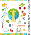 Icons Set Devoted to Summer Sport Games in Brazil 25060729
